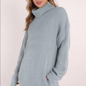 Light Blue Sweater Dress